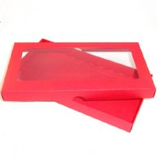 DL Red Invitation Boxes With Aperture Lid